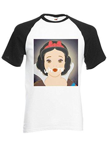 Snow White Princess Where Novelty Black/White Men Women Unisex Shirt Sleeve Baseball T Shirt-L