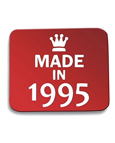 T-Shirtshock - Tappetino Mouse Pad TR0091 Made In 1995 Red 18th Birthday Party Nineties 90s, Taglia taglia unica