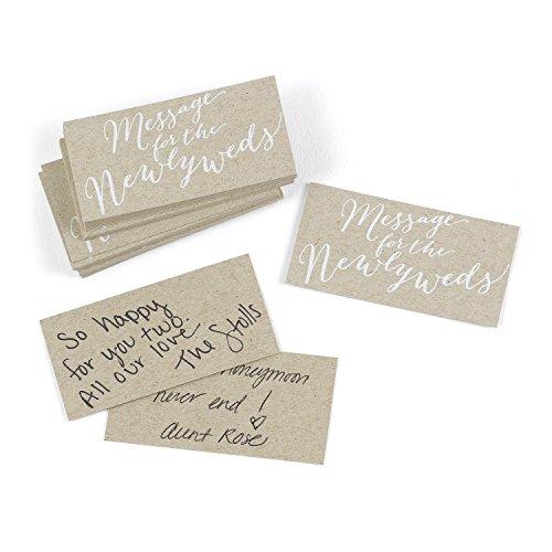 Hortense B. Hewitt Hochzeits-Zubehör 25 Stück Krafty Nachricht für das Brautpaar Karten