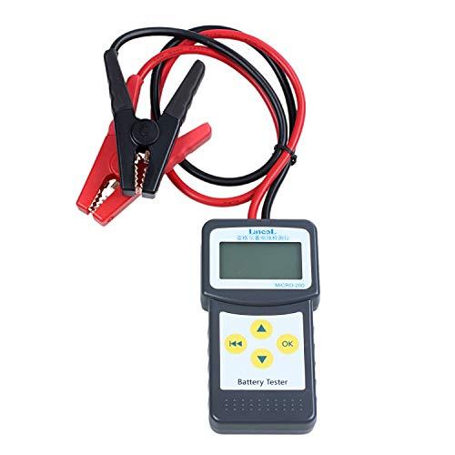 Cikuso Probador de BateríA Automotriz Analizador de BateríA y Alternador de 12V Micro-200