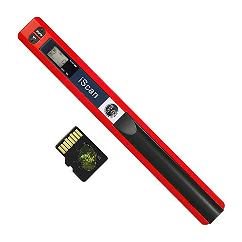 Docooler mobiler Bildscanner Handheld Wand Wireless Scanner A4-Format 900DPI JPG/PDF Formate LCD-Display für Business Document Empfängt Buchbilder