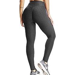 FITTOO Mallas Pantalones Deportivos Leggings Mujer Yoga de Alta Cintura Elásticos y Transpirables para Yoga Running Fitness con Gran Elásticos1090 Negro S