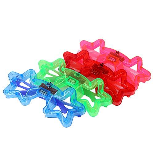 STOBOK 5 stücke Licht-Up Sterne Brille LED Blinkende Sonnenbrille Party Kostüm Prop Spielzeug für Kinder (Zufällige Farbe)
