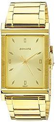 Sonata Analog Gold Dial Mens Watch - 77032YM01J
