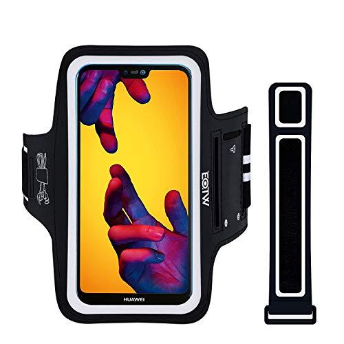 Sport Armband (EOTW Sportarmband Handyhülle Kompatibel mit Huawei P20/ P20 Lite/ P30, Handytasche Sport für Joggen Laufen Schwarz)