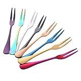 Buyer Star 8 piezas Tenedor de pastel Acero inoxidable 8