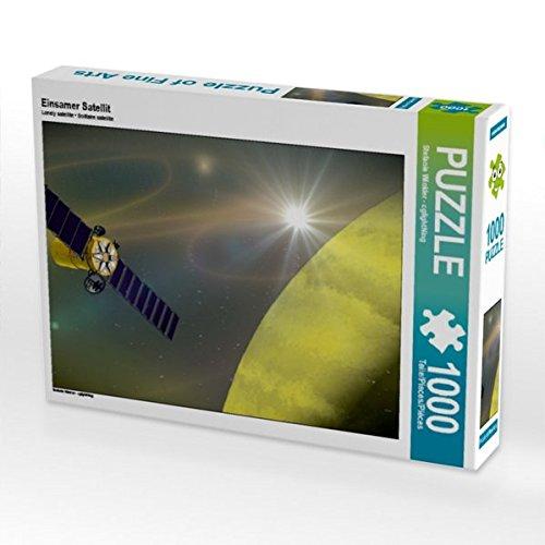Einsamer Satellit 1000 Teile Puzzle quer von Stefanie Winkler - cglightNing (CALVENDO Wissenschaft)