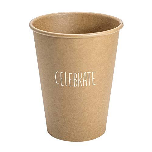 SB Design Studio Sips Drinkware Kraftpapierbecher Kraftpapier 12-Ounce Celebrate
