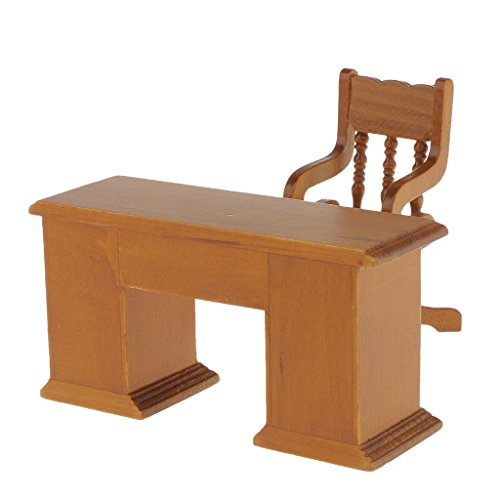 MagiDeal Sedia Tavolo in Legno Bambole Casa Mobili In Miniatura Arredamento Decorazione Scala 1:12