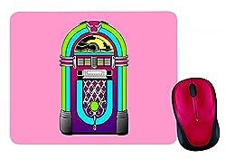 "Mauspad ""JUKEBOX- MUSIK- MUSIK PLAYER- MULTIMEDIA- MEDIEN- STEIN- JAHRGANG- RETRO- AUSRÜSTUNG- UNTERHALTUNG"" in Pink | Mousepad - Mausmatte - Computer Pad - Mauspad mit Motiv"
