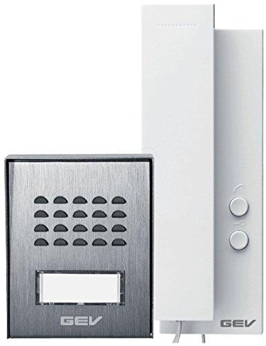 Preisvergleich Produktbild GEV 1- Familienhaus Audio Türsprechanlage CAS, 1 Stück, silber weiß, 88306