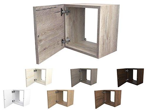 Legno Bianco Frassinato : Ve italy cubi in legno cm con sportello e ripiano in