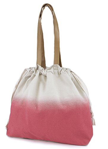 Octave , Damen Schultertasche One size Mehrfarbig - Ombre Two Colour Tone Design - Stone & Coral Pink