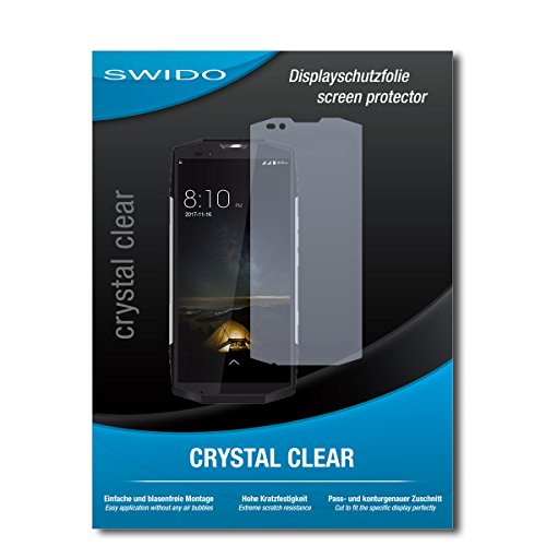 SWIDO Schutzfolie für Blackview BV9000 Pro [2 Stück] Kristall-Klar, Hoher Härtegrad, Schutz vor Öl, Staub und Kratzer/Glasfolie, Displayschutz, Displayschutzfolie, Panzerglas-Folie