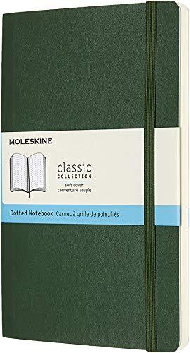 Moleskine Klassisches Notizbuch (mit Punktraster, Softcover mit Elastischem Verschlussband, Größe A5 13 x 21 - 192 Seiten) myrte Grün
