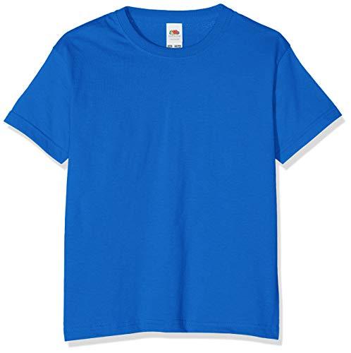 Fruit of the Loom T-shirt pour garçon taille unique bleu ro