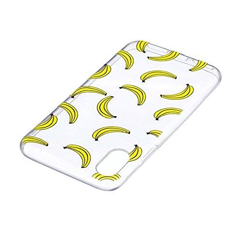 Custodia per iPhoneX(5,8  ) ,JIENI anguria Trasparente TPU Cover Coperchio Flessibile Sottile Protettivo Morbido Silicone Custodia Skin Bumper Case per iPhoneX(5,8  ) HX36