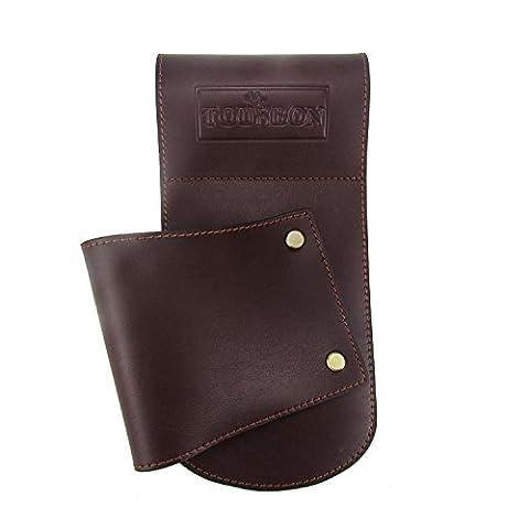 Tourbon Vintage Brown Leather Hip Scabbard Waist Belt Gun Holster for Shotgun Rifle - Brown