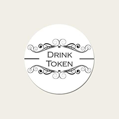 Monogram Swirls - Drinks Tokens - Pack of 30