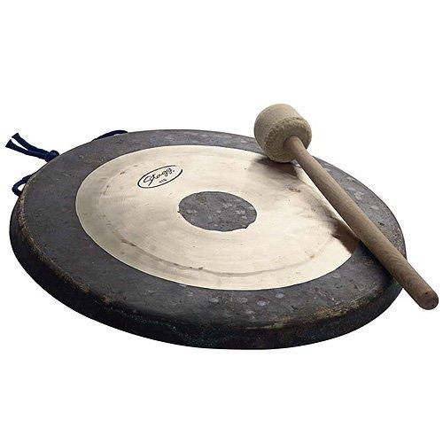 Stagg 25011269 Tam tam gong 20' 50 cm + Maillet Noir/Or