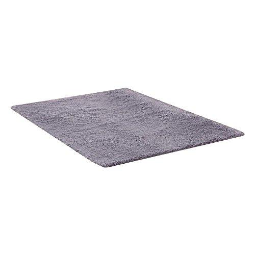 AOLVO weicher Hochflor Shaggy carpet-indoor Modern Shag Bereich seidig glatten Fell Flauschig Teppiche rutschsicheren Shaggy Teppich Bereich Teppich, Fußmatte/50* 80CM - Fell Shag