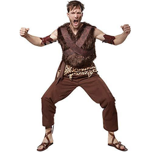 dressforfun 900575 - Herrenkostüm Steinzeit Clanchef, Cooles Steinzeitkostüm aus dem Neandertal (XL   Nr. 302766) (Und Höhlenmensch Halloween Frau)