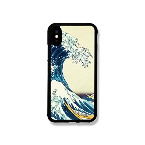 GFLD Hülle iPhone Iphon678plus iPhone Xsr MAX Spaß Wave Silikon weiche Seite Combo Handyhülle