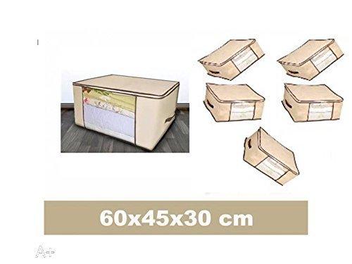 casa imabo Pack x12 Funda guardamantas,Funda bajo Cama, 60X45X30CM