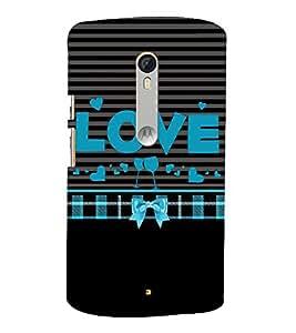Love is Where You Party 3D Hard Polycarbonate Designer Back Case Cover for Motorola Moto G3 :: Motorola Moto G (3rd Gen)