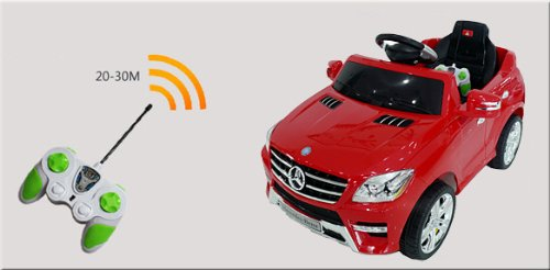 RC Auto kaufen Kinderauto Bild 3: Original Mercedes-Benz ML 4x4 4MATIC 350 SUV Lizenz Kinderauto Kinderfahrzeug (ROT)*