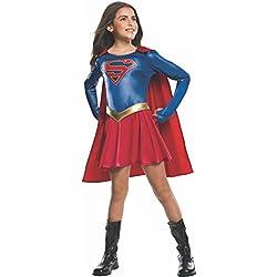 Disfraz oficial infantil para niñas de Supergirl de la serie de televisión, tamaño mediano
