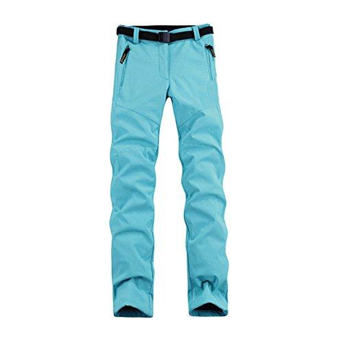 Dintang Wasserdichte Frau Hosen Outdoor Warme Skianzug Camping Reiten Wandern Kleidung (Blau, S)   06285088686757