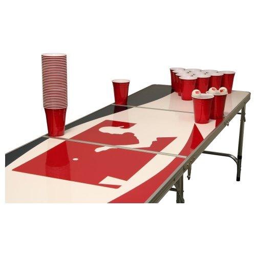 Logo Beer Pong Set - Bierpong Tisch inkl. 50 SOLO Red Cups und 6 Bällen -