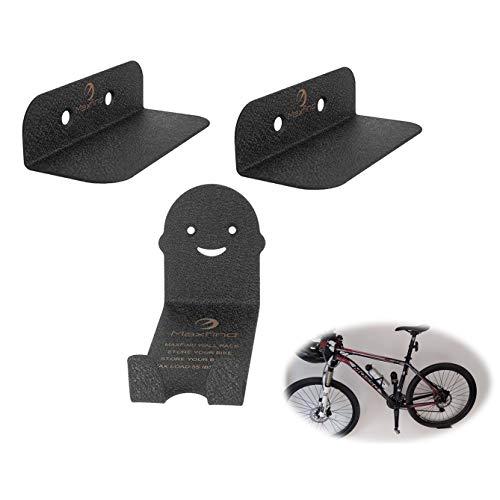 Maxfind Supporto Bici Appendi by, 3 in 1 Set Black Metal Gancio Bici for Deposito Biciclette