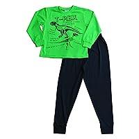 Boys T-Rex Dinosaur Long Pyjamas Pjs Dino Pj 5 to 9 Years Black Green