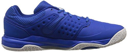 adidasCourt Stabil 12 - Scarpe da racquetball Uomo Blu (Blau (Blue/Silver Met./Ftwr White))