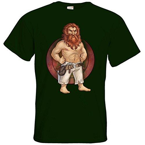 getshirts - Das Schwarze Auge - T-Shirt - Götter - Ingerimm - Chibi Bottle Green