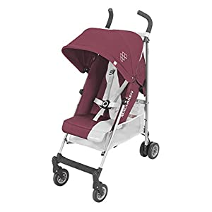 Maclaren Triumph Stroller - lightweight, compact My Babiie Suitable from birth to maximum 15kg Extendable 3 position canopy Lockable swivel front wheels 10