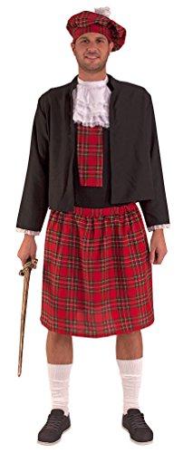 ,Karneval Klamotten' Kostüm Schotte Highlands Herr Kostüm Karneval Kilt Herrenkostüm Größe (Kostüm Braveheart Kinder)