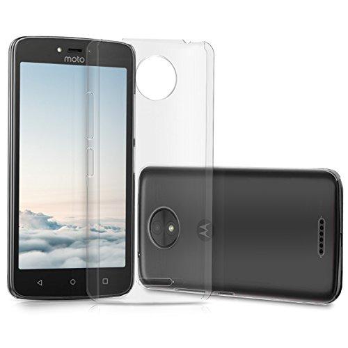 kwmobile Cover per Motorola Moto C Plus - Custodia Rigida Trasparente per Cellulare - Back Cover Cristallo in plastica Trasparente