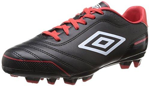 Umbro  Classico Fg,  Scarpe da calcio uomo Nero Noir (137-Noir/Blanc/Rouge) 42