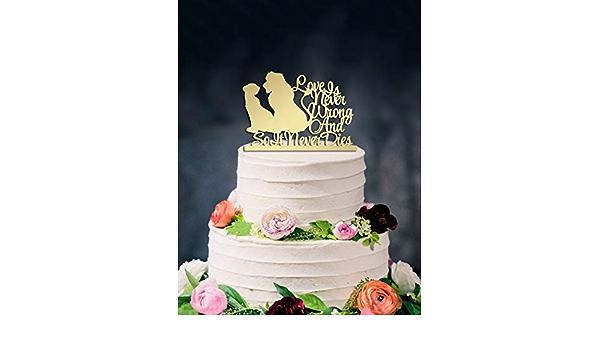 ROI LION SIMBA /& NALA wedding cake topper décoration acrylique .907