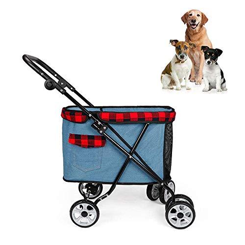 LiRongPing Hundewagen |Haustier Hund Katze Tier Warenkorb |hundewagen Reise |reisewagen behinderten Hund Kinderwagen -