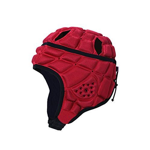 6SHINE Weich gepolsterte Kopfbedeckung - 7v7 Soft Shell - Rugby - Flag Football Helm - Fußball Goalie & Epilepsie Kopf Fallschutz - für 3-11 Jahre alte Kinder - Rot, Schwarz, Blau