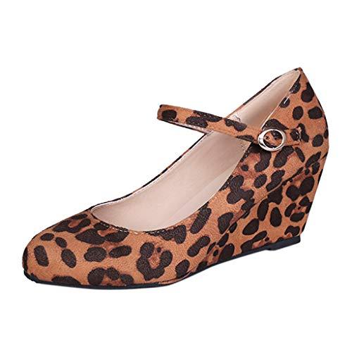 LILIGOD Damen Sandalen Mode Casual Römische Schuhe Sommer Outdoor-Schuhe Wedges Schnalle Schuhe Bequeme Berufsschuhe Große Damen-Sandalen Elegante Partyschuhe Runde Kopf High ()