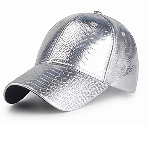 Sommer Baseball Cap Herren Silber Hut Goldene Frauen Herbst Einfache Ziel Fjong Fischen Leichte Zeit Dünne Plain Palm Tree UV Cut Einstellbare Outdoor Hut (Farbe : Silver)