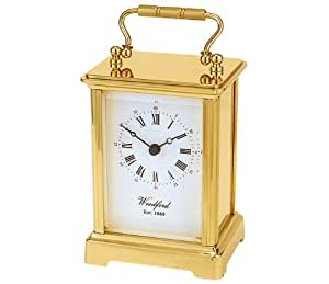 Carriage Clock - High quality Quartz movement - Heavy solid brass case made by Woodford Est 1861