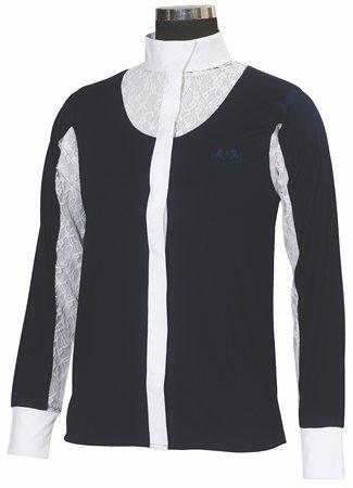 Equine Couture Damen-Shirt Celine Lange Ärmel Show, Damen, EC Navy, 40 -