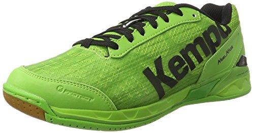 Kempa Attack Two, Scarpe da Pallamano Unisex - Adulto, Verde (Vert Espoir/Noir), 43 EU