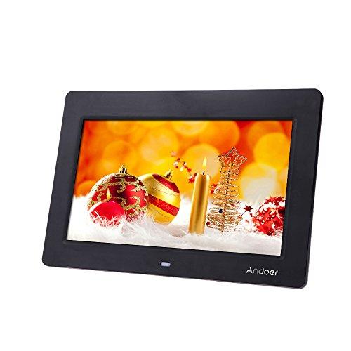 "Andoer 10"" HD TFT-LCD 1024 * 600 Cadre photo numérique Alarme Horloge MP3 MP4 Movie Player Remote Desktop"